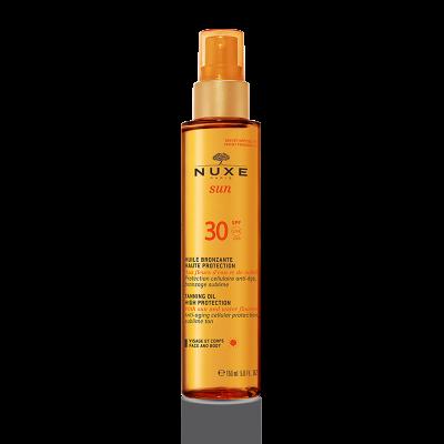 NUXE SUN защитное масло для загара SPF 30, 150 мл.