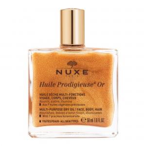 Huile Prodigieuse® OR Сухое масло с золотыми мерцающими частичками для лица, тела и волос, 50 мл