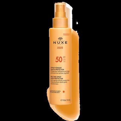 NUXE sun Cолнцезащитный спрей для лица и тела SPF 50, 150 мл