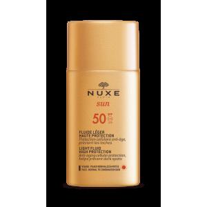 Nuxe sun Солнцезащитный флюид для лица SPF 50, 50 мл