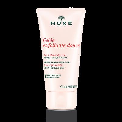 Rose Petals® Мягкий очищающий гель-скраб для всех типов кожи, 75 мл.