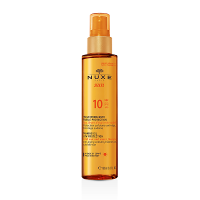 NUXE SUN Защитное масло для загара SPF 10, 150 мл.