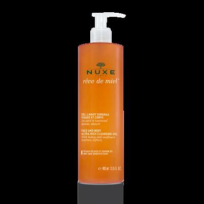 Rêve de Miel ®  Питательный очищающий гель для лица и тела, 400 мл.